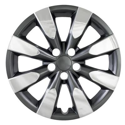 "51316CC 2014-2016 TOYOTA COROLLA 16"" CHROME AND CHARCOAL OEM REPLICA HUBCAP WHEEL COVERS"