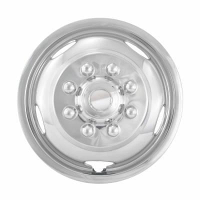 "2003-2018 Dodge Ram 3500 17"" Stainless Steel Wheel Simulator ; Front; Single Piece"