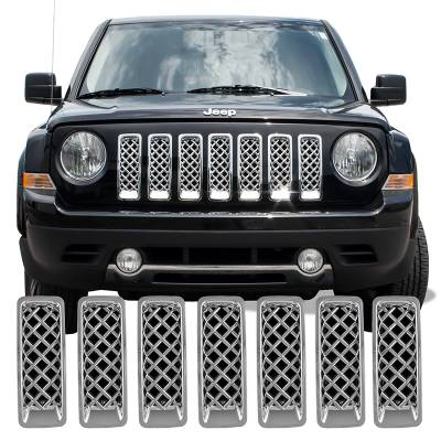 Jeep - Patriot - CCI - 2011-2019 JEEP PATRIOT CHROME GRILLE COVER OVERLAY