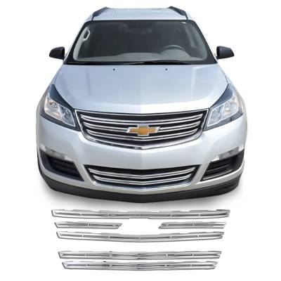 Chevrolet - Traverse - CCI - 2013-2017 CHEVROLET TRAVERSE CHROME GRILLE OVERLAY COVER TOP AND BOTTOM