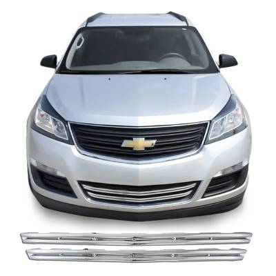 Chevrolet - Traverse - CCI - 2013-2017 CHEVROLET TRAVERSE CHROME GRILLE OVERLAY COVER LOWER HALF