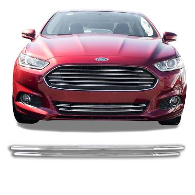 2013-2016 FORD FUSION CHROME GRILLE COVER OVERLAY