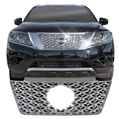 Nissan - Pathfinder - CCI - 2013-2016 NISSAN PATHFINDER CHROME GRILLE OVERLAY COVER