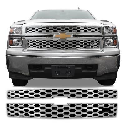Chevrolet - Silverado 1500 - CCI - 2014-2015 CHEVROLET SILVERADO 1500 CHROME GRILL OVERLAYLTZ