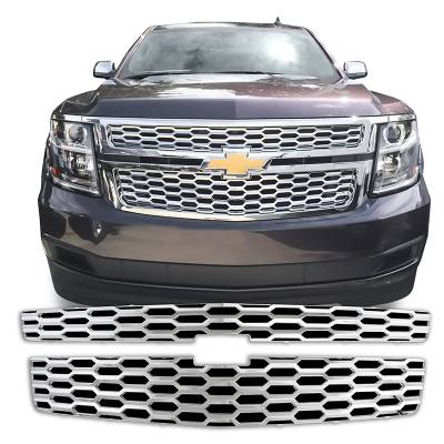 Chevrolet - Suburban - CCI - 2015-2020 CHEVROLET SUBURBAN CHROME GRILLE OVERLAY COVER