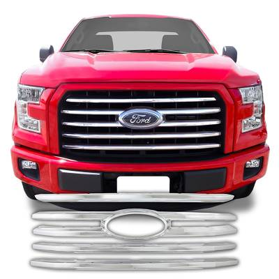 Ford - F150 - CCI - 2015-2017 FORD F150 CHROME GRILLE OVERLAY COVER