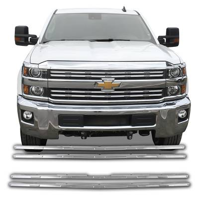 Chevrolet - Silverado 2500 - CCI - 2015-2019 CHEVROLET SILVERADO 2500 CHROME GRILLE OVERLAY COVER