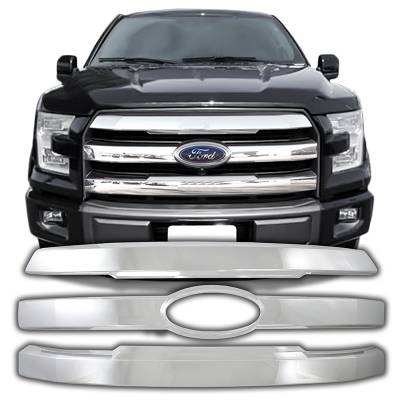 Ford - F150 - CCI - 2015-2017 FORD F150 CHROME GRILLE OVERLAY