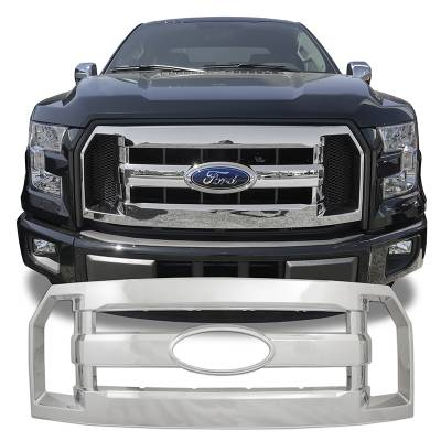 Ford - F150 - CCI - 2016-2017 FORD F150 CHROME GRILLE OVERLAY