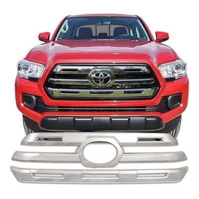 Toyota - Tacoma - CCI - 2016-2017 TOYOTA TACOMA CHROME GRILLE OVERLAY COVER