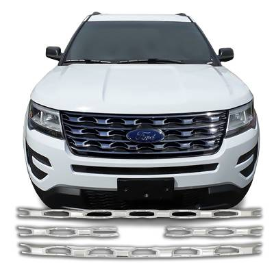 Ford - Explorer - CCI - 2016-2017 FORD ESCAPE CHROME GRILLE OVERLAY COVER