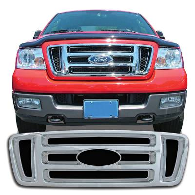 Ford - F150 - CCI - 2004-2008 FORD F150 CHROME GRILLE OVERLAY COVERXL, STX, FX4