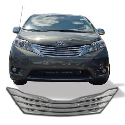 Toyota - Sienna - CCI - 2011-2017 TOYOTA SIENNA CHROME GRILLE OVERLAY COVER