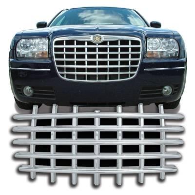 Chrysler - 300 - CCI - 2005-2010 CHRYSLER 300 CHROME GRILL OVERLAY COVER