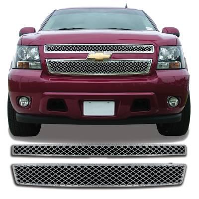 Chevrolet - Suburban - CCI - 2007-2013 CHEVROLET SUBURBAN CHROME GRILLE OVERLAY