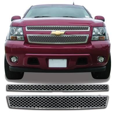Chevrolet - Tahoe - CCI - 2007-2013 CHEVROLET TAHOE CHROME GRILLE OVERLAY
