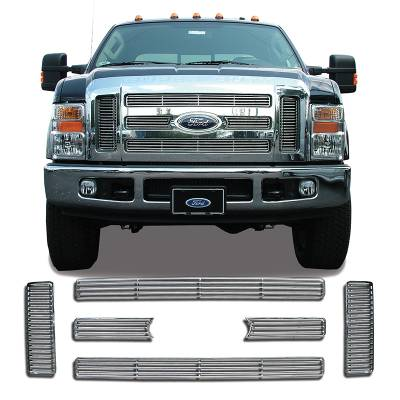 Ford - SuperDuty F250 - CCI - Chrome Grille Overlay 08-10 Ford SuperDuty F250