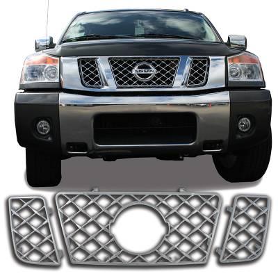 Nissan - Titan - CCI - Chrome Grille Overlay 08-15 Nissan Titan