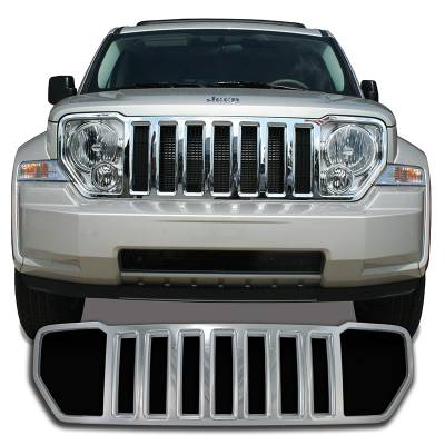 Jeep - Liberty - CCI - 2008-2012 JEEP LIBERTY CHROME GRILLE COVER OVERLAY