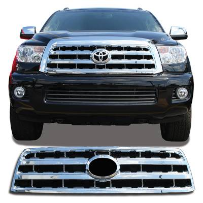 Toyota - Sequoia - CCI - 2008-2016 TOYOTA SEQUOIA CHROME GRILLE OVERLAY COVER