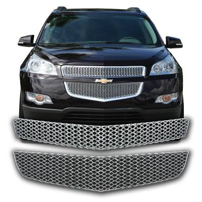 Chevrolet - Traverse - CCI - 2009-2012 CHEVROLET TRAVERSE CHROME GRILLE OVERLAY COVER