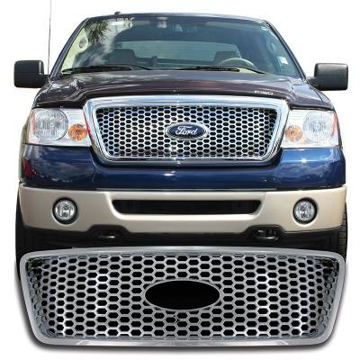Ford - F150 - CCI - 2004-2008 FORD F150 XLT / LARIAT CHROME GRILLE OVERLAY