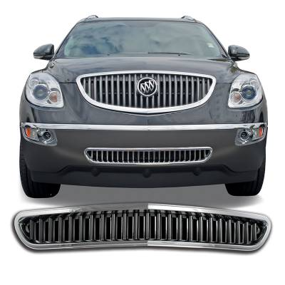 Buick - Enclave - CCI - 2008-2012 BUICK ENCLAVE CHROME GRILLE OVERLAY COVER