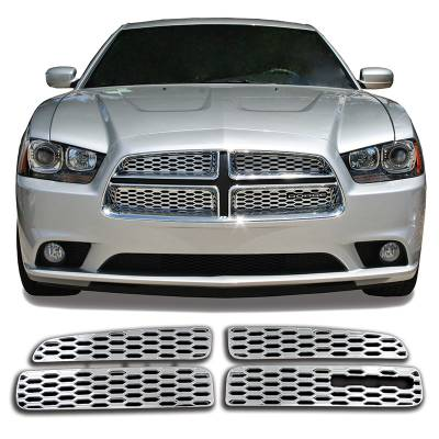 2011-2014 DODGE CHARGER CHROME GRILLE OVERLAY