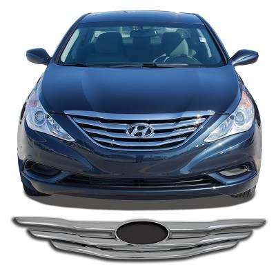 Hyundai - Sonata - CCI - 2011-2013 HYUNDAI SONATA CHROME GRILLE OVERLAY COVER
