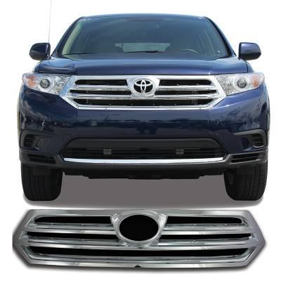 Toyota - Highlander - CCI - 2011-2013 TOYOTA HIGHLANDER CHROME GRILLE OVERLAY COVER