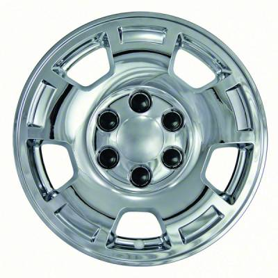 """Chevrolet - Silverado 1500 - CCI - 2007-2013 CHEVROLET SILVERADO 1500 17"""" CHROME WHEEL SKINS SET OF FOUR IMP347X"""