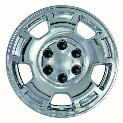 "Chevrolet - Tahoe - CCI - 2007-2013 CHEVROLET TAHOE 1500 17"" CHROME WHEEL SKINS SET OF FOUR IMP347X"