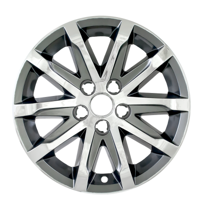 """Cadillac - CTS - CCI - 2014-2016 CADILLAC CTS CHROME AND CHARCOAL 17"""" WHEEL SKINS SET OF FOUR IMP368CC"""