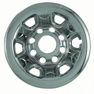 "GMC - Sierra 2500 - CCI - 2007-2010 GMC SIERRA 2500 16"" STEEL WHEEL CHROME WHEEL SKINS SET OF FOUR IMP62X"