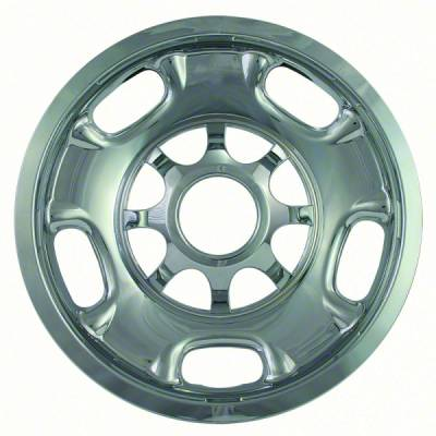 "GMC - Sierra 2500 - CCI - 2011-2018 GMC SIERRA 2500 17"" CHROME WHEEL SKINS SET OF FOUR IMP84X"