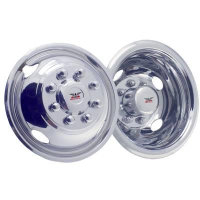 "1990-2010 Chevrolet Silverado 4500 19.5"" Stainless Steel Wheel Simulator Set"
