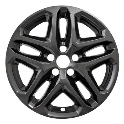 """Ford - Fusion - CCI - 2013-2016 FORD FUSION GLOSS BLACK 17"""" WHEEL SKINS SET OF FOUR IMP372BLK"""