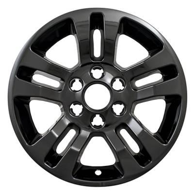 "Chevrolet - Silverado 1500 - CCI - 2014-2019 CHEVROLET SILVERADO 1500 18"" GLOSS BLACK WHEEL SKINS SET OF FOUR IMP377BLKN"