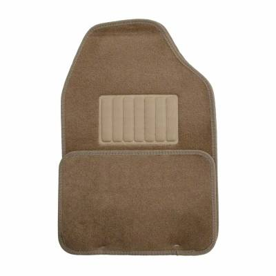 Floor Mats - CCI - Universal Value FloorMat 4 Piece Dark Tan Set