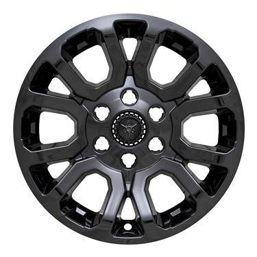 "GMC - Sierra 1500 - 2014-2019 GMC SIERRA 1500 / YUKON 18"" GLOSS BLACK WHEEL SKINS IMP404BLK SET OF FOUR"