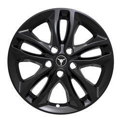 "Chevrolet - Malibu - CCI - 2016-2020 CHEVROLET MALIBU 17"" GLOSS BLACK WHEEL SKINS iMP406BLK SET OF FOUR"