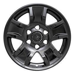 "Chevrolet - Silverado 1500 - CCI - 2014-2018 CHEVROLET SILVERADO 1500 17"" GLOSS BLACK WHEEL SKINS SET OF FOUR IMP390BLK"