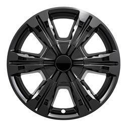 "GMC - Terrain - CCI - 2016-2017 GMC Terrain 18"" GLOSS BLACK WHEEL SKINS IMP396BLK SET OF FOUR"