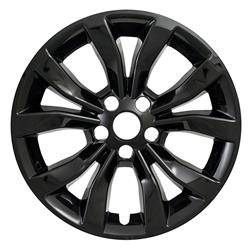 """Chrysler - 300 - CCI - 2015-2018 CHRYSLER 300 17"""" GLOSS BLACK WHEEL SKINS IMP381BLK SET OF FOUR"""