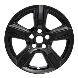 """Ford - Mustang - CCI - 2015-2019 FORD MUSTANG 17"""" GLOSS BLACK WHEEL SKINS SET OF FOUR IMP408BLK"""