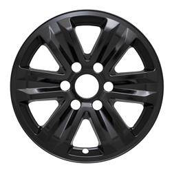 "Ford - F150 - CCI - 2015-2020 FORD F150 17"" GLOSS BLACK WHEEL SKINS SET OF FOUR IMP387BLK"