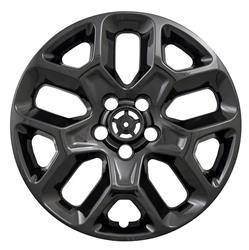 "Jeep - Renegade - CCI - 2015-2018 JEEP RENEGADE 17"" GLOSS BLACK WHEEL SKINS SET OF FOUR IMP386BLK"