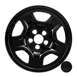 "Jeep - Renegade - CCI - 2014-2020 JEEP RENEGADE / COMPASS 16"" GLOSS BLACK WHEEL SKINS SET OF FOUR IMP97BLK"
