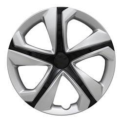 "Honda - Civic - CCI - 2016-2018 HONDA CIVIC 16"" BLACK AND SILVER OEM REPLICA HUBCAP WHEEL COVERS"