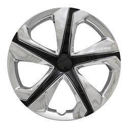 "Honda - Civic - CCI - 2016-2018 HONDA CIVIC 16"" BLACK AND CHROME OEM REPLICA HUBCAP WHEEL COVERS"